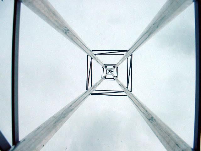 vista da torre por dentro
